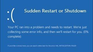 How to Fix Sudden Restart/Shutdown Problem in Windows 10/8.1/7