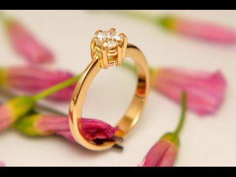 Кольцо с бриллиантом процесс изготовления