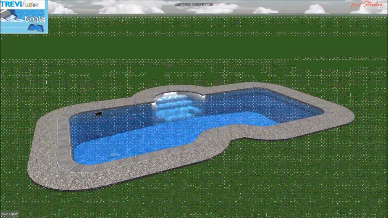 Piscine tr vi fuzion noble youtube for Piscine trevi