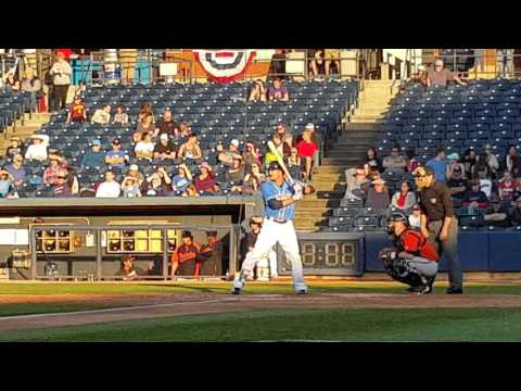 Lonnie Chisenhall doubles in rehab with Double-A Akron 4/15/16
