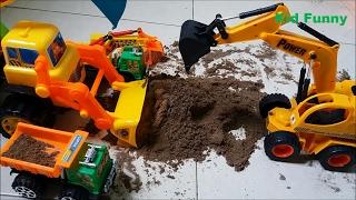Car toy đồ chơi máy xúc cát, máy ủi, cần cẩu điều khiển bằng tay Truck construction by kid funny