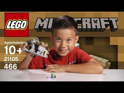 THE VILLAGE - LEGO MInecraft Set 21105 - Unboxing. Review & Time-lapse Build