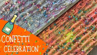 Making Of Confetti Cold Process Soap Using All The 2019 Soap Scraps | 🎉  GYPSYFAE CREATIONS