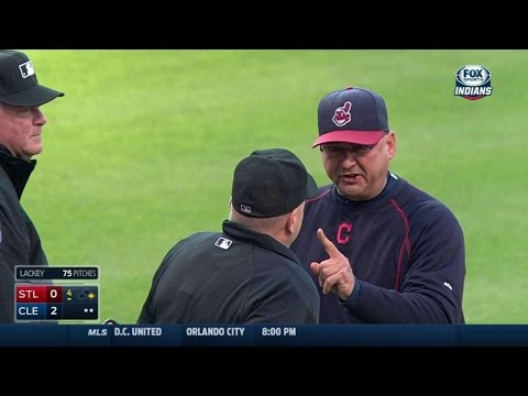 STL@CLE: Francona ejected disputing a call