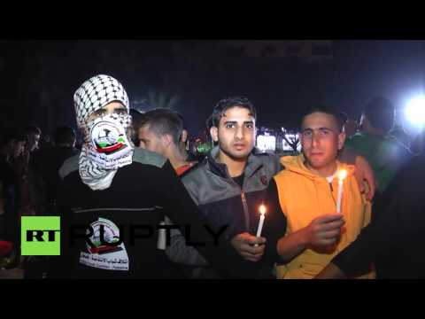 State of Palestine: 'Santa' attends lighting of 'Christmas Tree of Martyrs' in Gaza