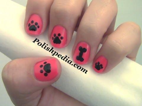 Dog Paw Nail Art