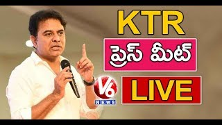 KTR Press Meet LIVE | Lok Sabha Election Results 2019 | V6 News