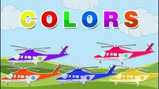 Learning Colors| Learn colors with Helicopters