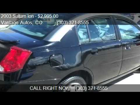 2003 Saturn Ion Sedan 2 for sale in Denver, CO 80210 at the