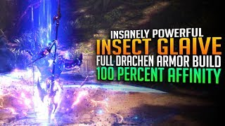 NEW INSANELY HIGH DAMAGE INSECT GLAIVE BUILD! Drachen Armor Set! Monster Hunter World