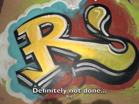 Reskew's Graffiti tutorial #1 acrylics & paint brush technique