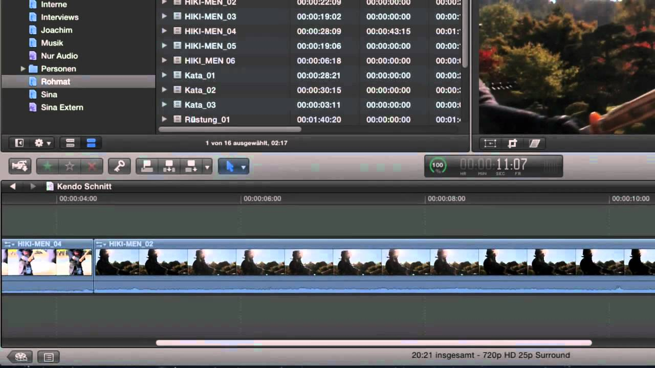 Total training for final cut pro 5 the essentials dvd1