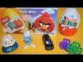 Surprise Eggs Angry Birds, Cars 2, Smurfs, Kinder Toys, киндер сюрприз, toytrains4u, My million tv #