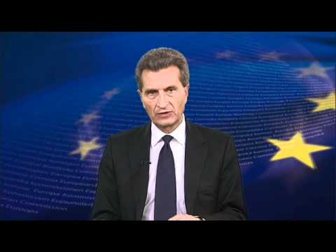 EU Energy Commissioner Oettinger at the launch of the Covenant of Mayors Club Germany