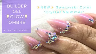 Watch My☝🏾First Attempt at a Builder Gel💡GLOW💡Ombre Ft Gel Bottle Inc.'s Baby Boomer Grand Set