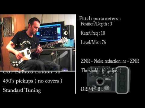 Black Sabbath / Tony Iommi 's tone / Zoom G2.1U patch