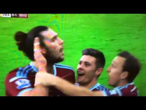 Andy Carroll goal vs Swansea