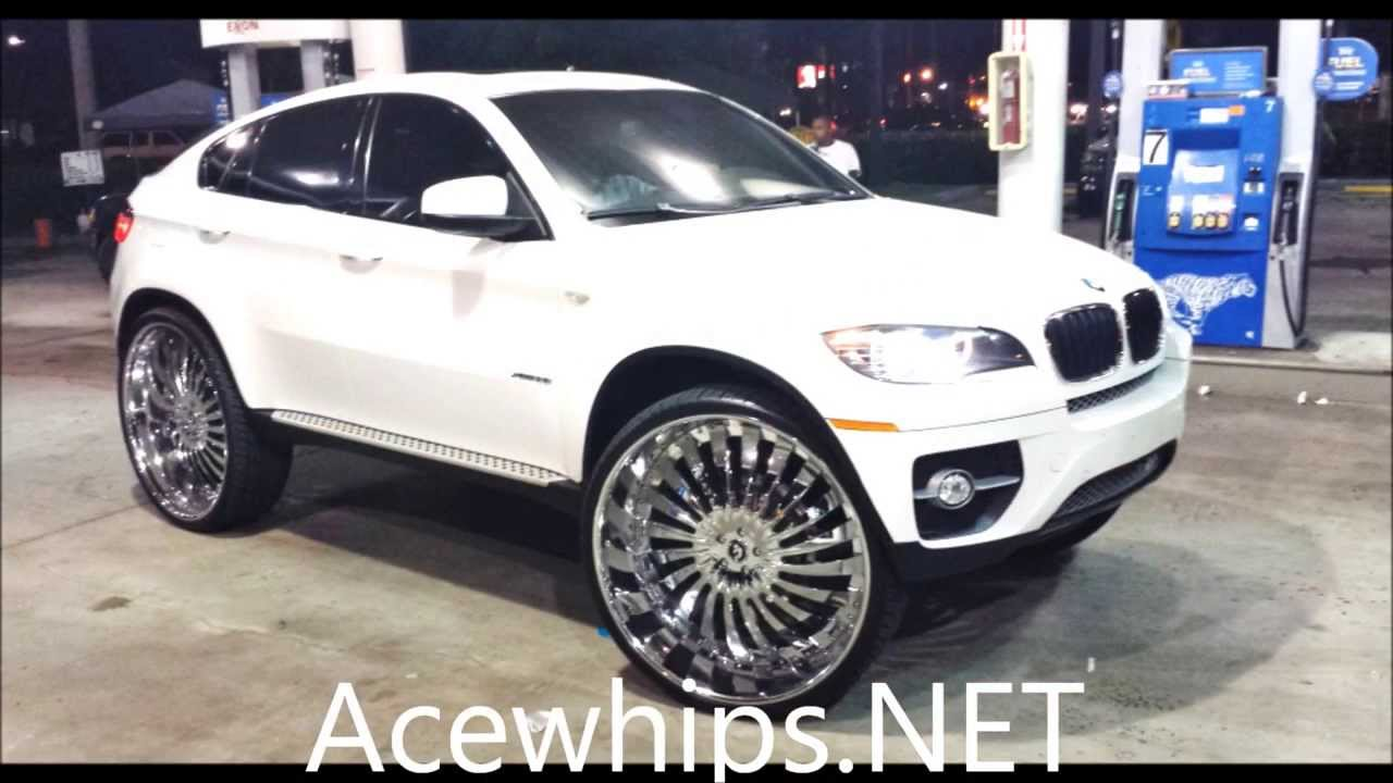"Acewhips.NET- White BMW X6 on 32"" Autonomo Forgiatos - YouTube"
