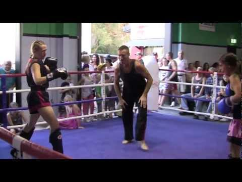 Women's Kickboxing Sparring ( 20 KG's Advantage ) Round #3 Image 1
