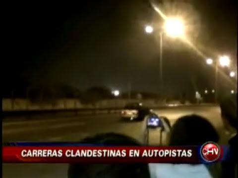 Carreras clandestinas en autopistas de Santiago