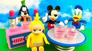 TELETUBBIES and MICKEY MOUSE toys - Hungry Goofy is looking for food