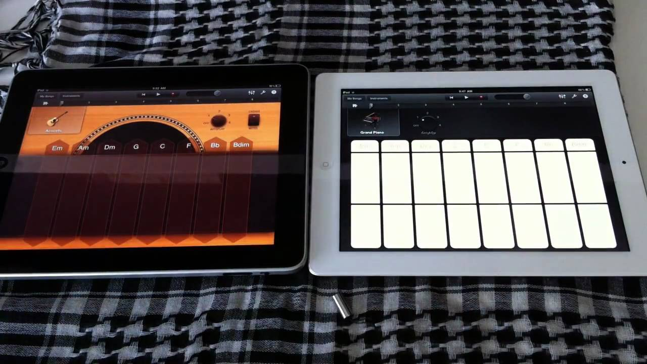 Ipad 1 vs Ipad 2 Garageband Apple Ipad 2 vs Ipad 1 Garage