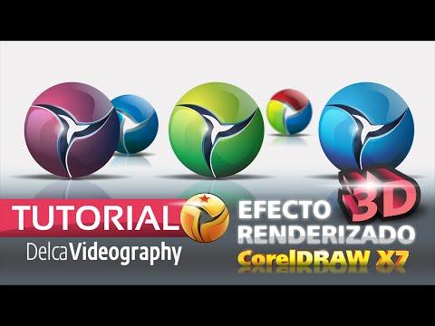 TUTORIAL 6 CorelDRAW X7: EFECTO 3D Y RENDERIZADO VECTORIAL