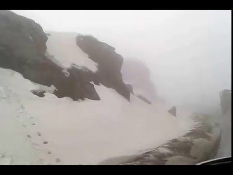 Snow covered Road to Nathu La Pass, Sikkim - Ice on the Way to Nathula India-China Border in Sikkim