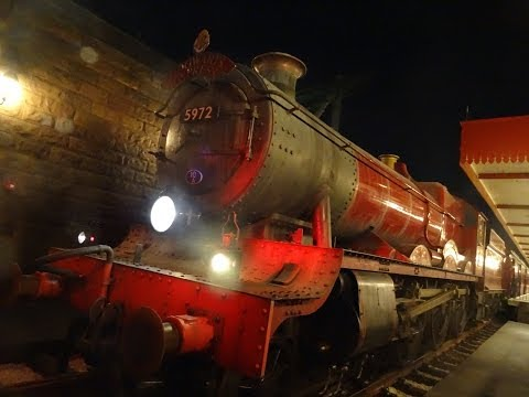Hogwarts Express Train POV BOTH Directions Harry Potter Diagon Alley Universal Orlando Resort