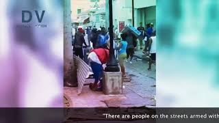 Scroll 35 Secs To See Cockroach Nigger Looters On Dutch St. Martin Island At 'Work'