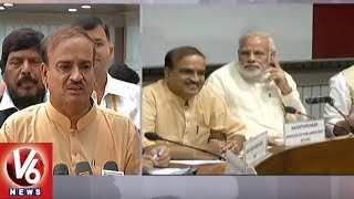 Union Minister Ananth Kumar Addresses Media After All Party Meet