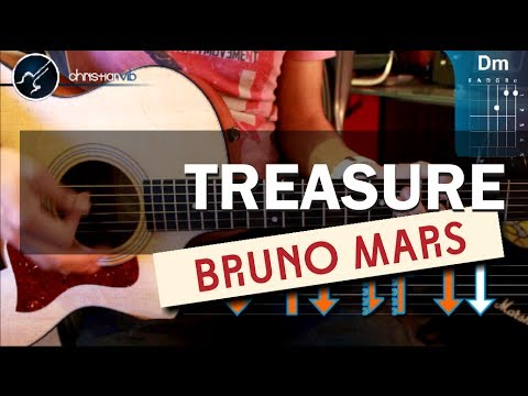 Como tocar Treasure – BRUNO MARS – en guitarra Acustica (HD) Tutorial