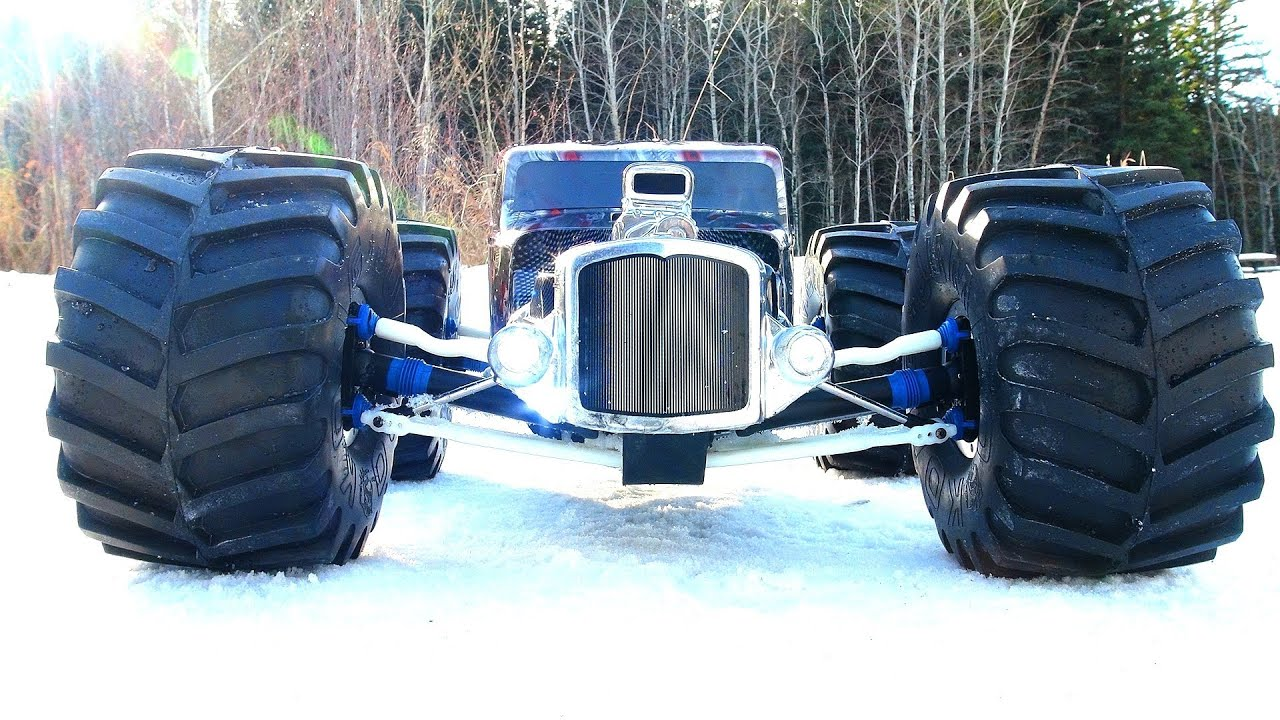 Reaper Truck For Sale >> RC ADVENTURES - Monster GRiM REAPER - RatRod RC - Traxxas Summit 4x4 Snaps Axle! - YouTube
