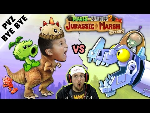 NO MORE PVZ 2!  Mike vs. Jurassic Marsh Zomboss! Zombot Dinotronic Mechasaur (FGTEEV says Goodbye)