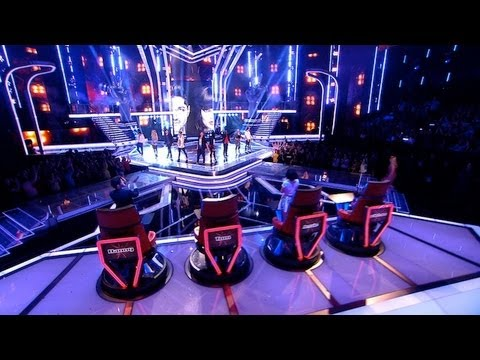 Teams Danny and Jessie: Full Group Performance - The Voice UK - Live Show 1 Results - BBC One