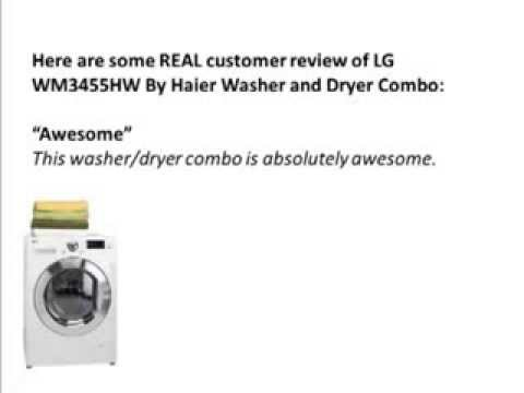 LG WM3455HW  Washer And Dryer Combo Review