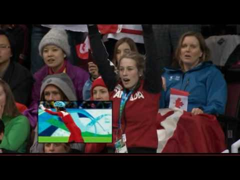 Marianne St-Gelais watches boyfriend Charles Hamelin win gold