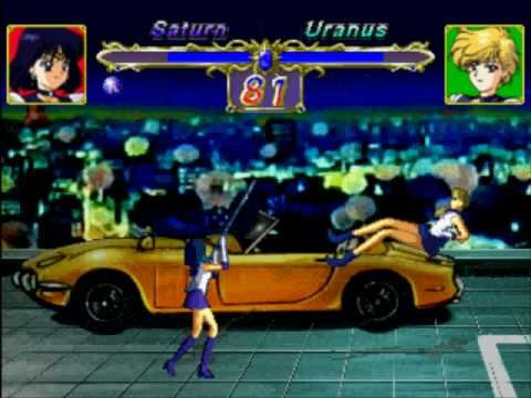 Sailor Saturn Vs Sailor Uranus(Playstation)