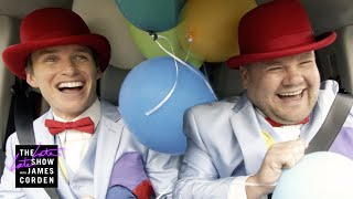 James & Eddie Redmayne Deliver Singing Balloon Telegrams