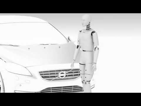 Подушка безопасности для пешеходов от Volvo [2 ВИДЕО]