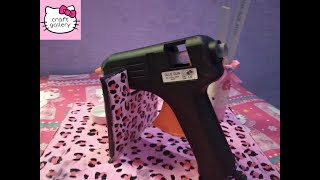 DIY glue gun stand from cardboard/how to make glue gun and sticks holder