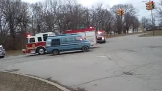 Indianapolis fire department, low bridge crash