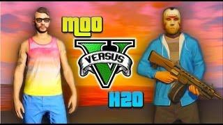 GTA 5 Fun - Moo vs Delirious, Plane Glitch, Train Landing