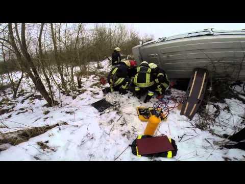 Gelbėjimo darbai autoįvykių metu, Ukmergės priešgaisrinės gelbėjimo tarnybos pratybos