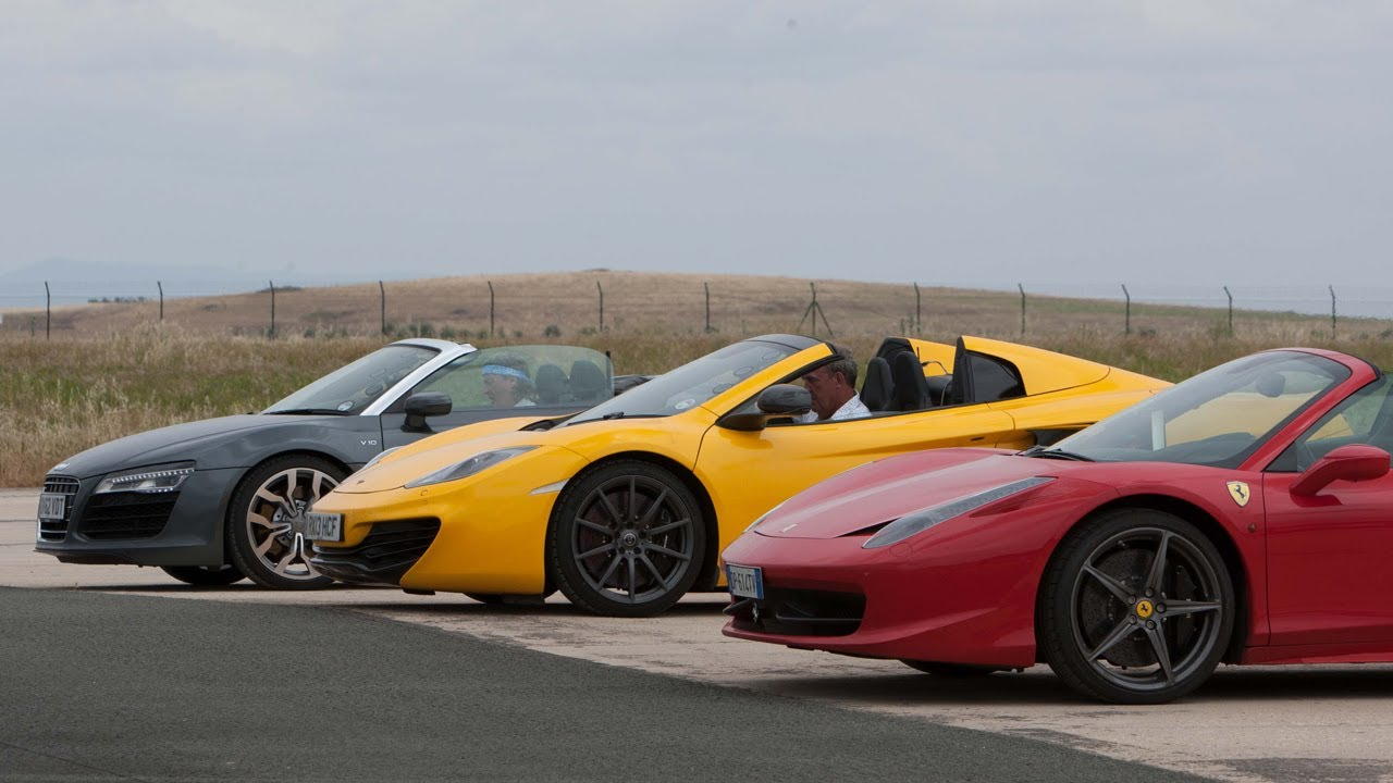TOP GEAR's Spain Supercar Street Circuit - Action Replay BBC AMERICA - YouTube