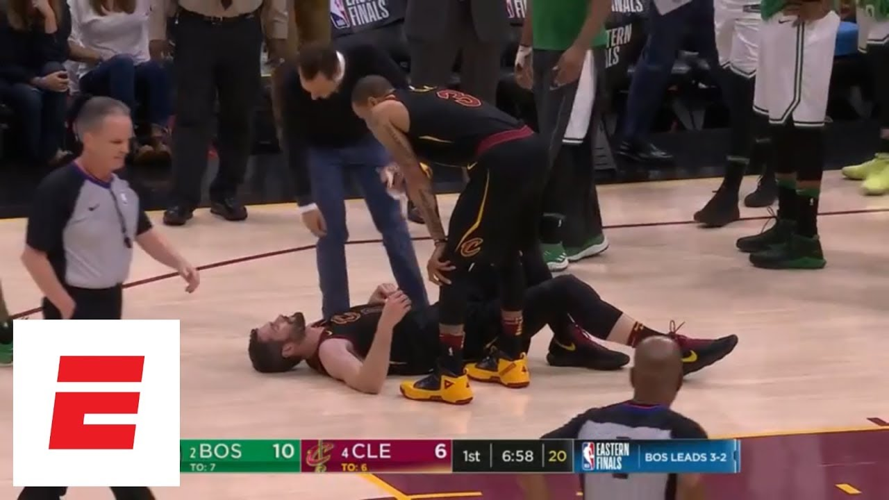 Kevin Love collides with Jayson Tatum early in Game 6 of Cavs-Celtics, goes to locker room | ESPN