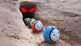 Thomas and Friends Toy Trains There is a ghost in the cave!