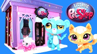 Littlest Pet Shop Style Set Playset 135 pieces LPS Toy unboxing and Review