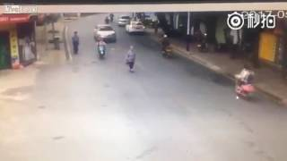 Woman intentionally ran down in the street
