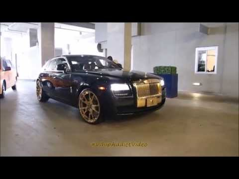 WhipAddict: Quick look at Aco Obama Rolls Royce Ghost with Gold Trim and Gold Forgiatos